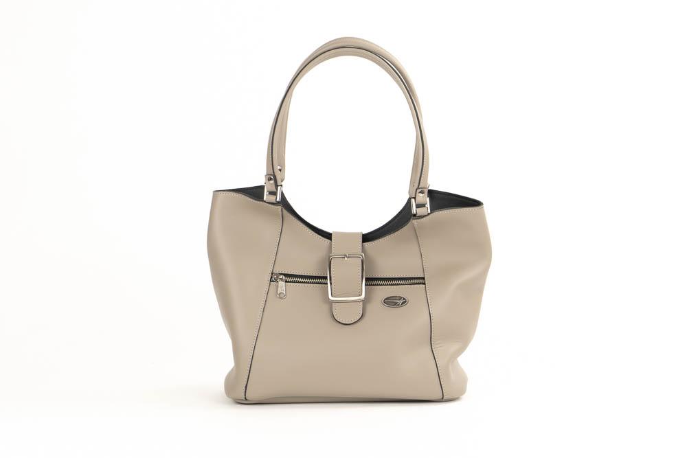 Taupe leather purse